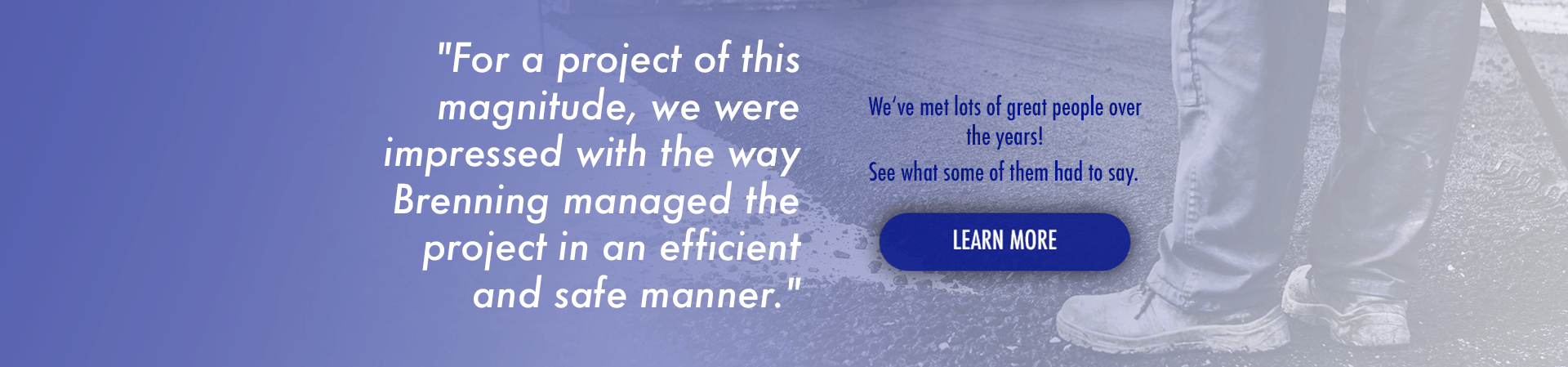 Client Testimonials at Brenning Paving and Construction